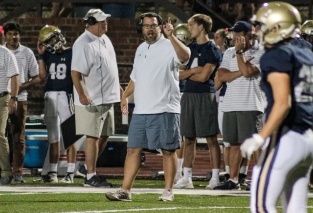 Briarwood head coach Matthew Forester