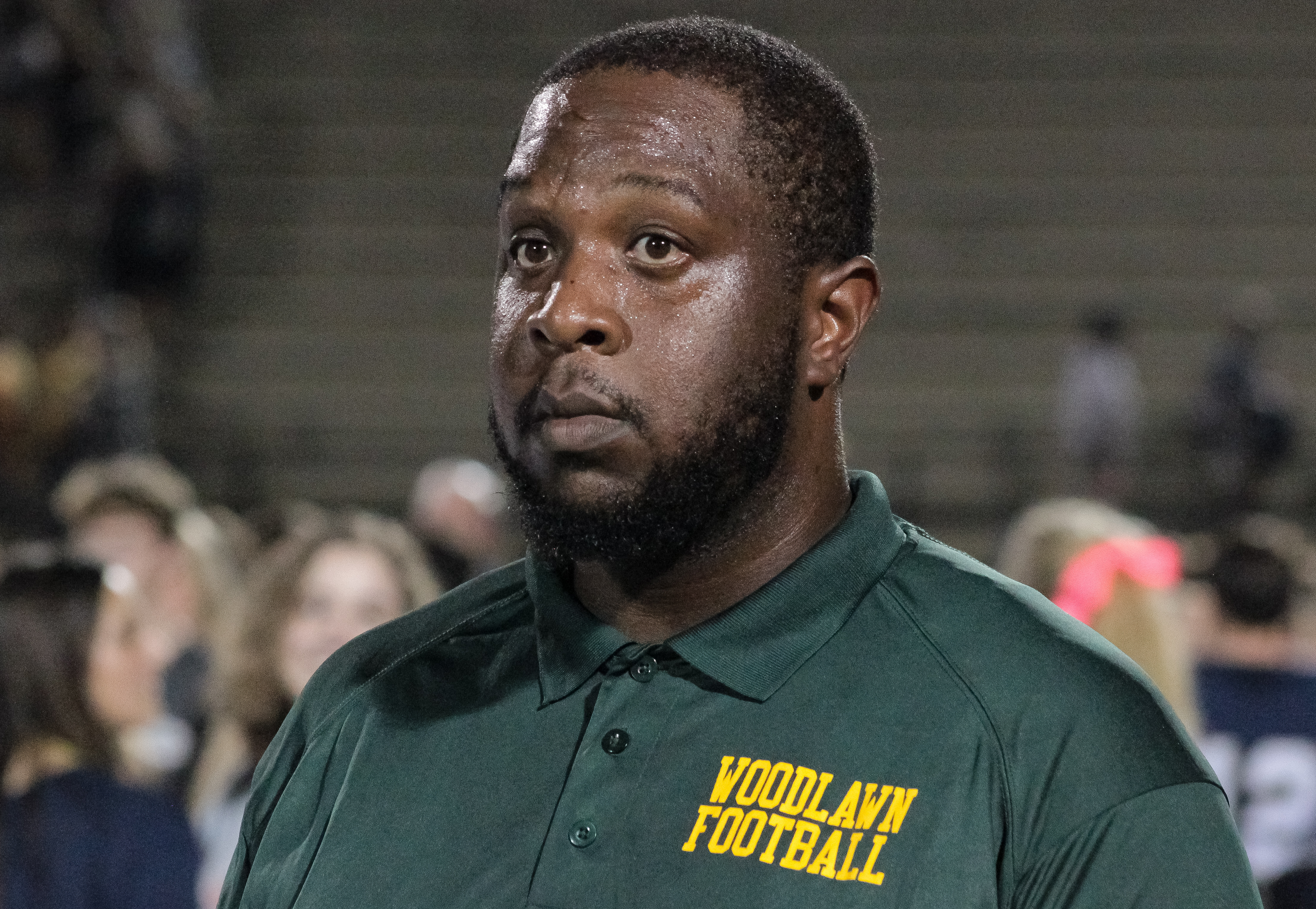 Woodlawn head coach Jerry Davenport