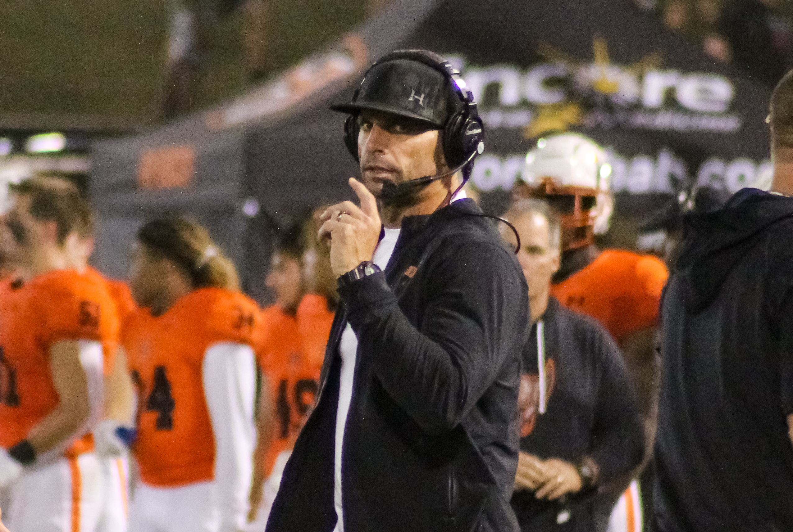 Hoover head coach Josh Niblett