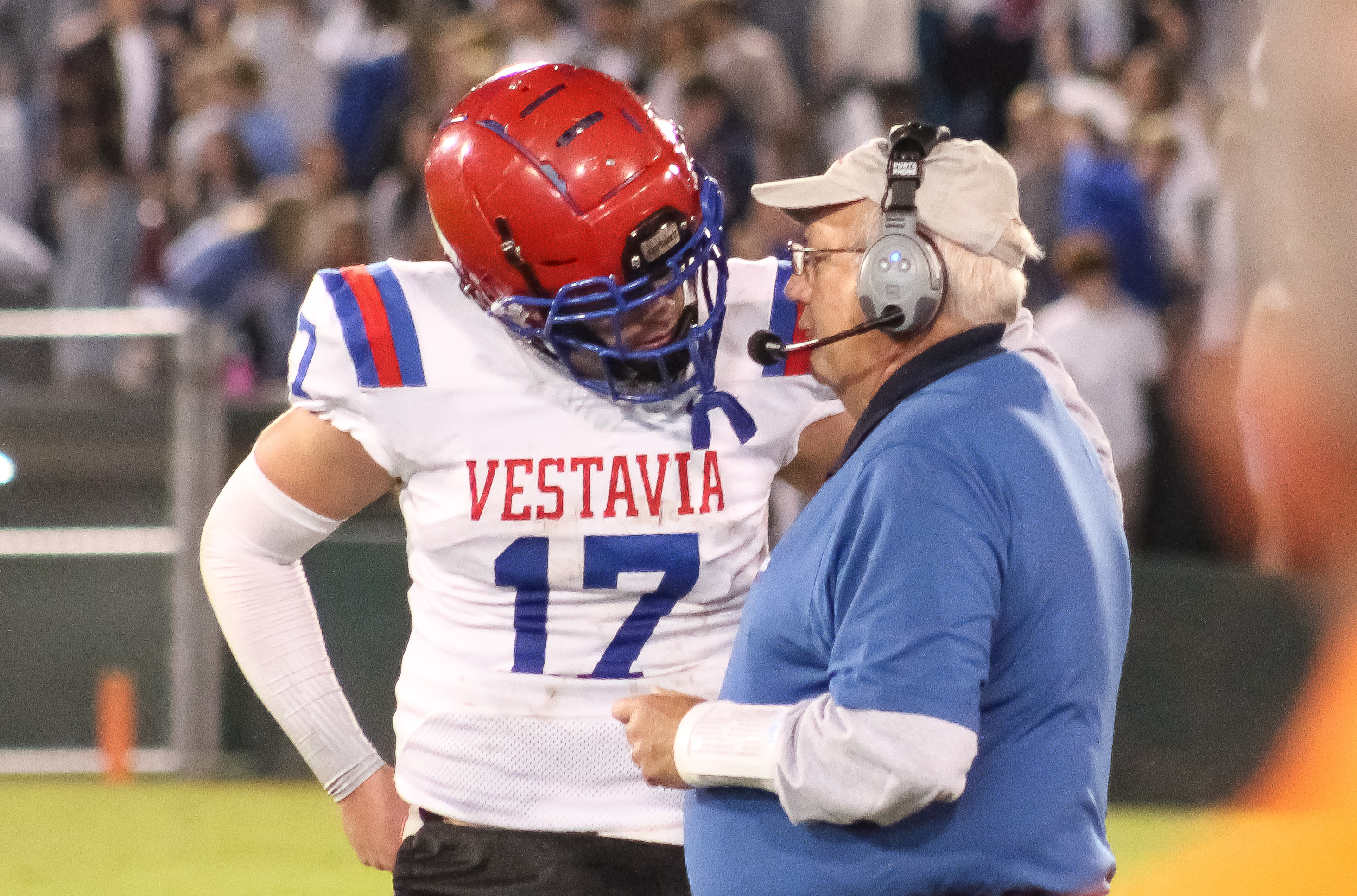 Vestavia QB Eli Sawyer & head coach Buddy Anderson
