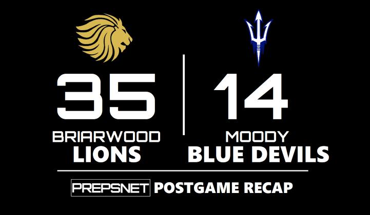 Postgame Recap   Briarwood takes out Moody 35-14