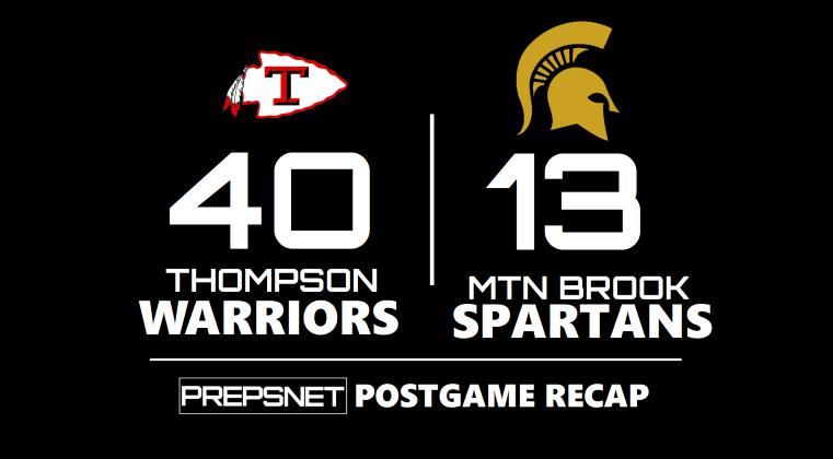 Postgame Recap   Thompson rocks Mtn Brook 40-13
