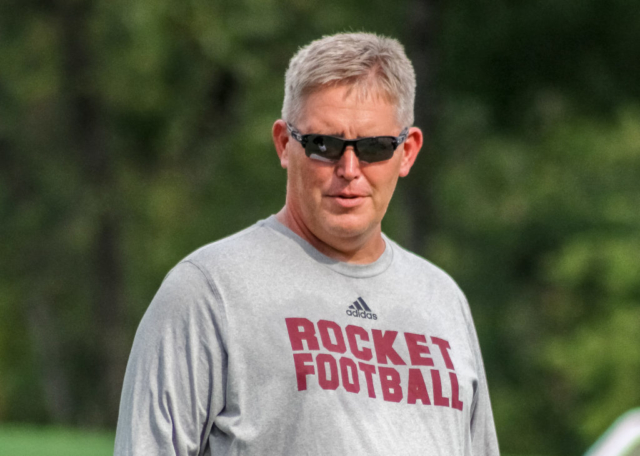 Gardendale Rockets head football coach Chad Eads