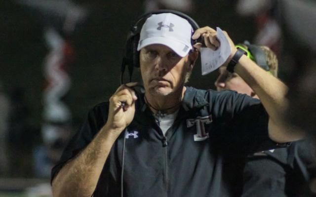 Thompson head coach Mark Freeman