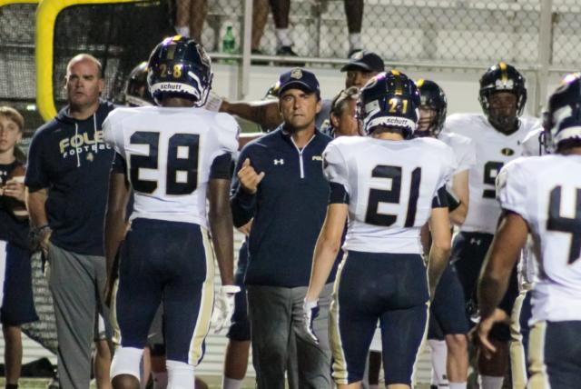 Foley head coach Tad Niblett