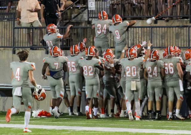 Glenwood Gators celebrate 51-0 win over Brookwood School (GA)
