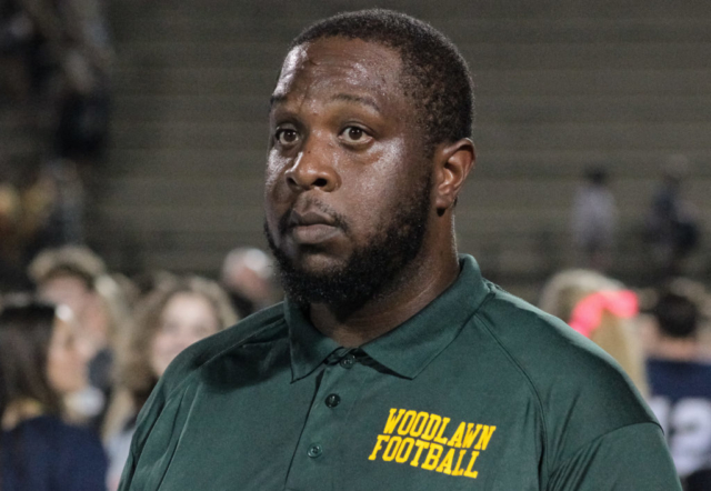 Woodlawn head coach Jerry Davenport