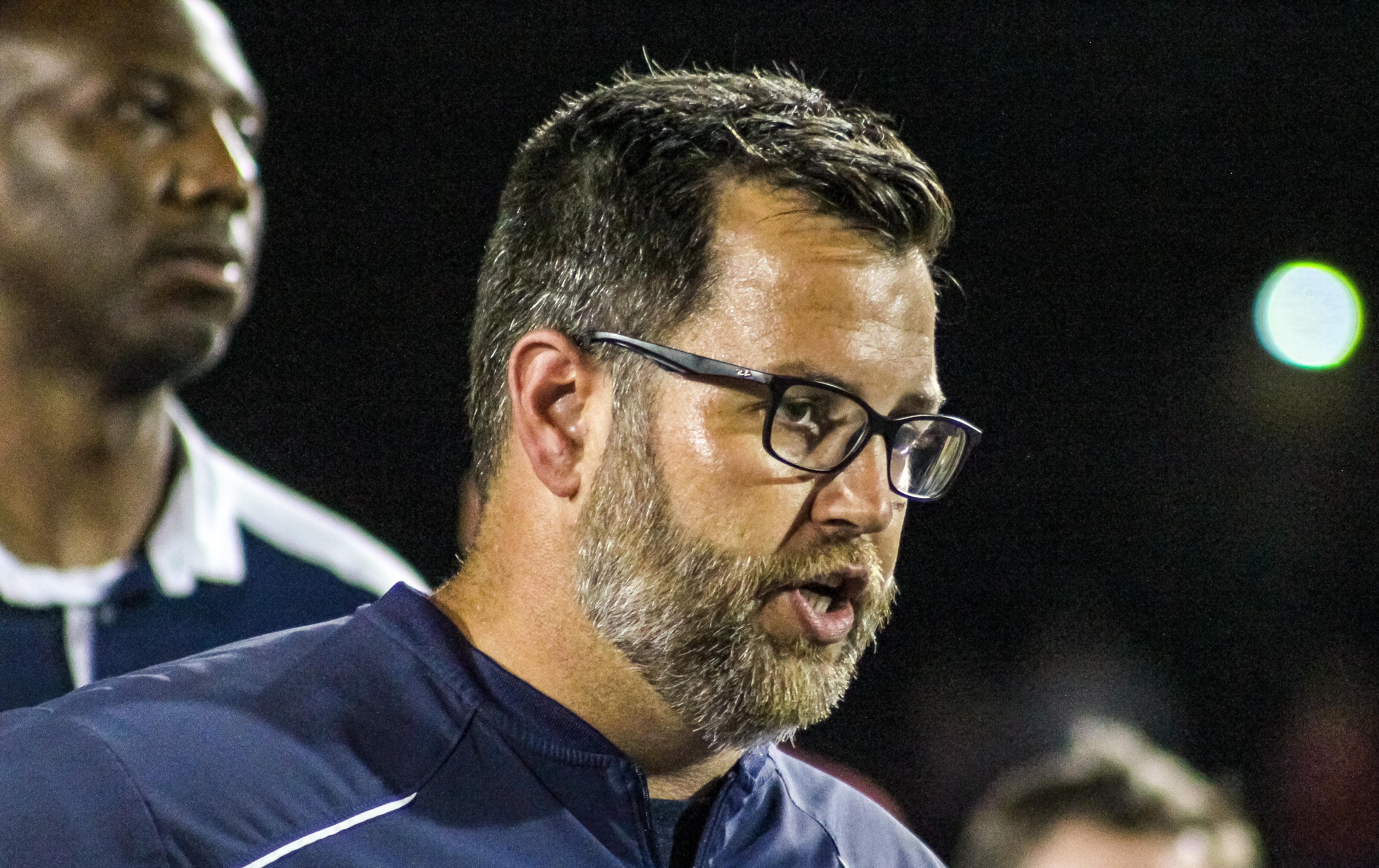 Briarwood head coach Matthew Forester