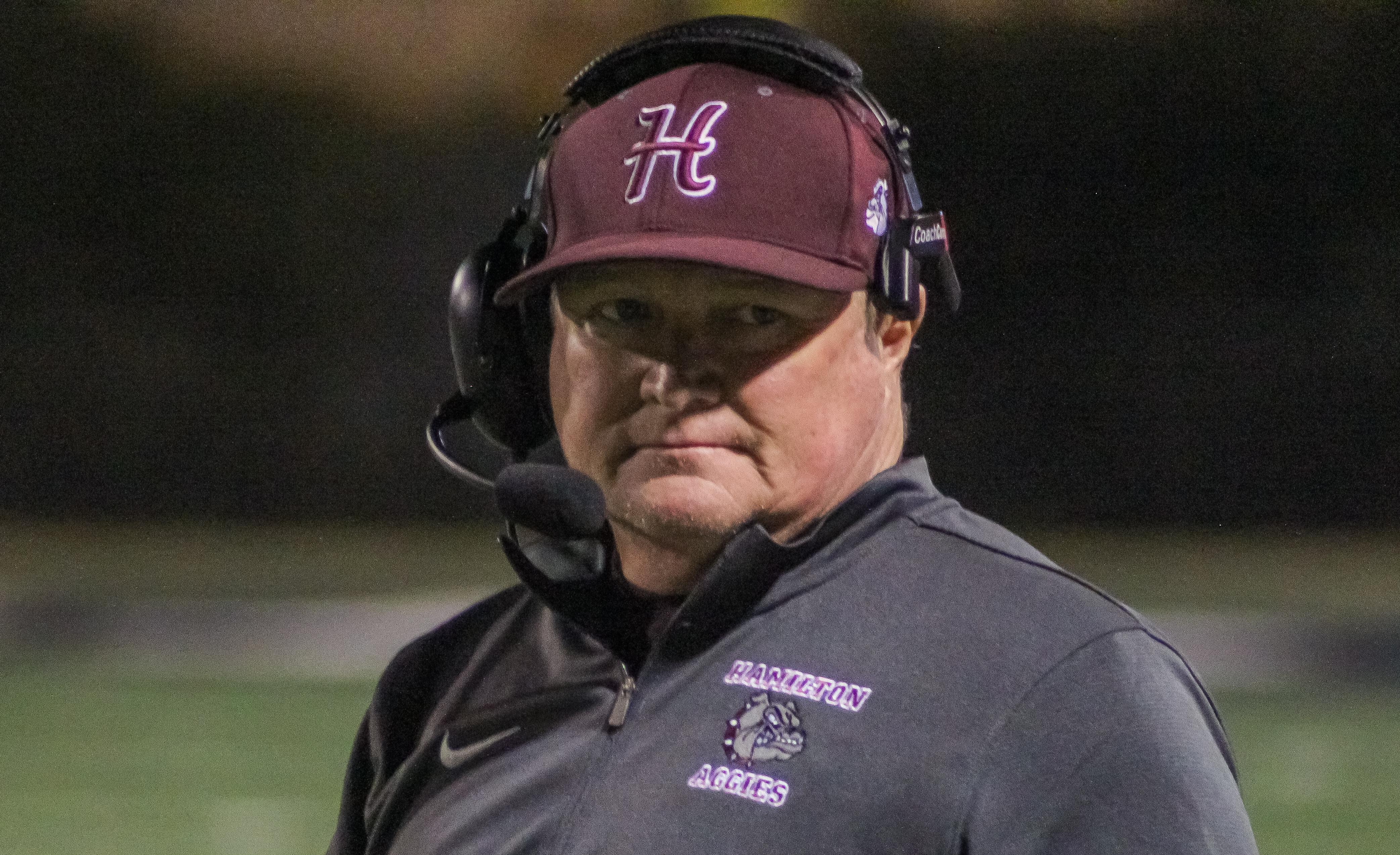 Hamilton head coach Rodney Stidham
