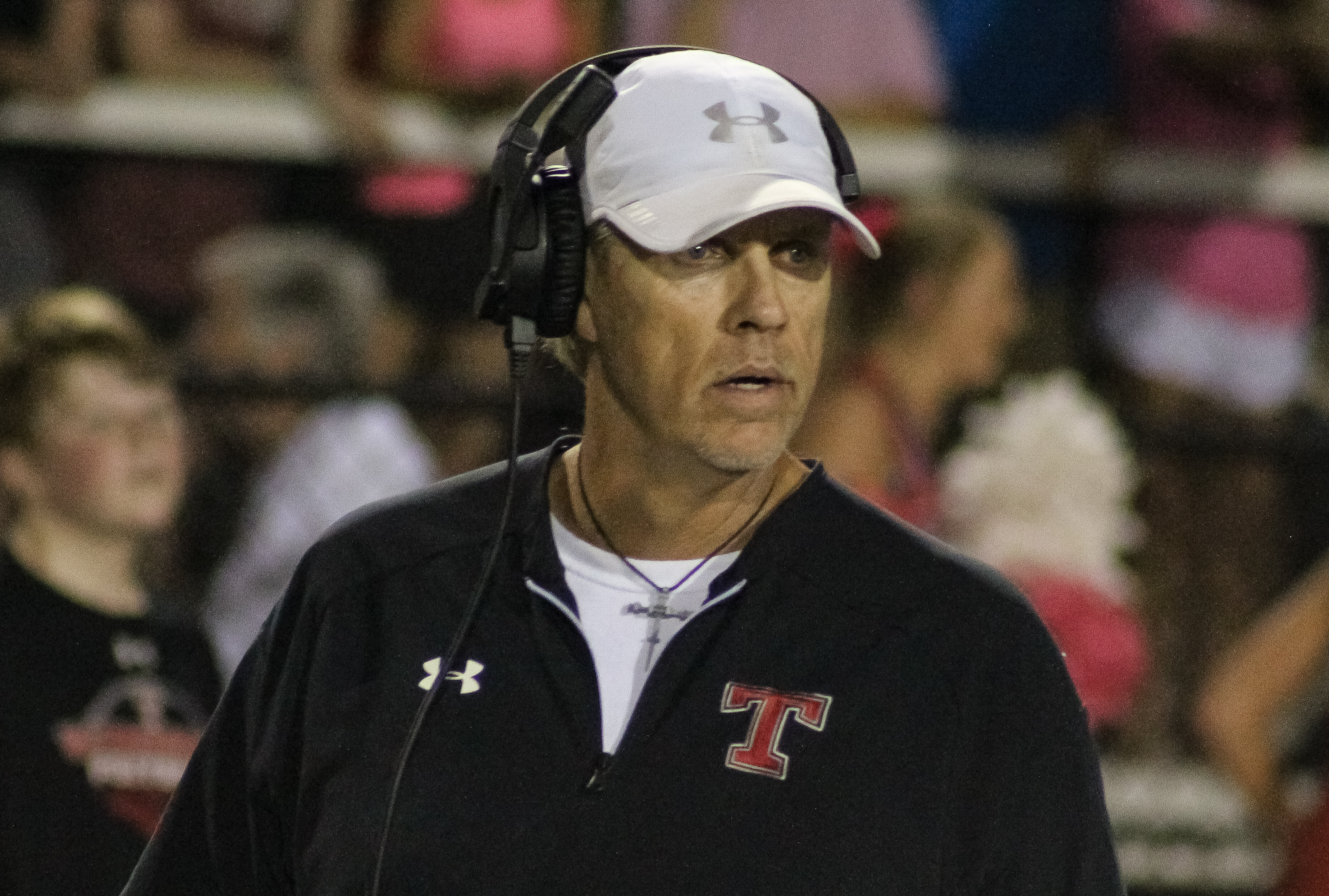 Thompson head coach Mark Freeman