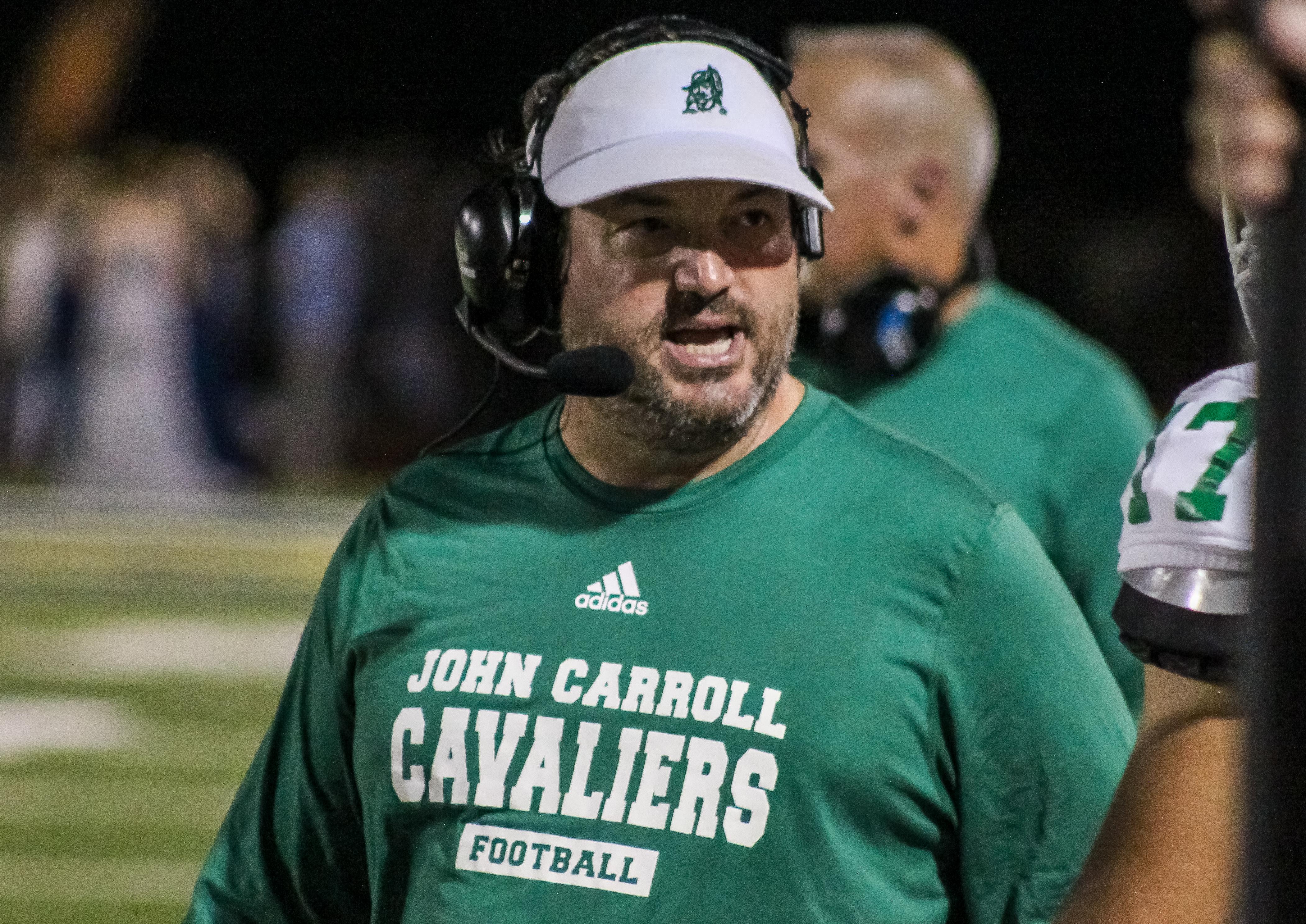 John Carroll head coach Logan Colafrancisco