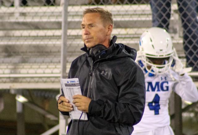 IMG Academy head coach Kevin Wright