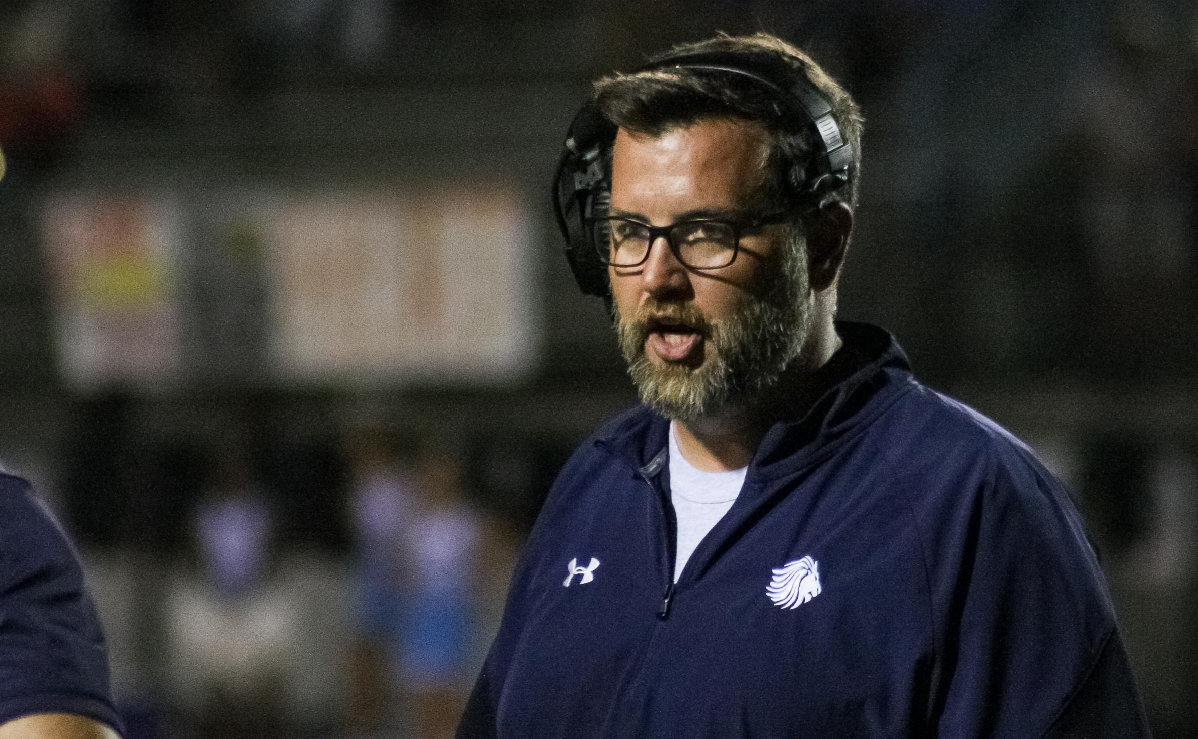 Briarwood Christian head coach Matthew Forester
